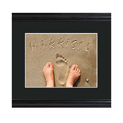 Personalized Toes in the Sand Framed Print