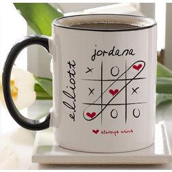 Personalized Heart Love Always Wins Coffee Mug