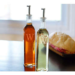 Personalized Oil and Vinegar Cruet Bottles