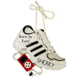Personalized Running Shoe Ornament