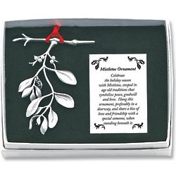 Pewter Mistletoe Ornament
