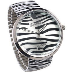 Zebra Print Stretch-Band Watch