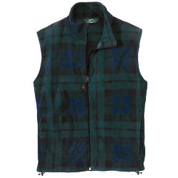 Men's Andes Blackwatch Plaid Fleece Vest