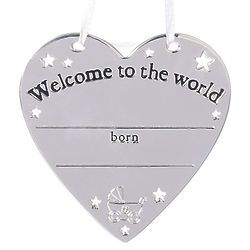 Personalizable Welcome to the World Ornament