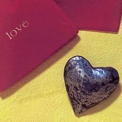 Pewter Heart Love Pocket Token
