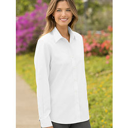 Woman's Wrinkle-Free Cotton Pinpoint Shirt