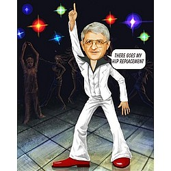 Personalized Saturday Night Fever Caricature from Photo