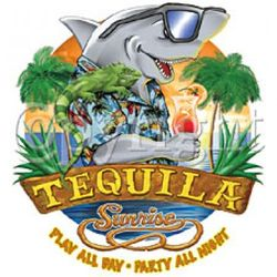Tequila Sunrise Shark T-Shirt