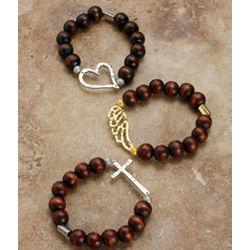 Wooden Bead Inspiration Bracelet