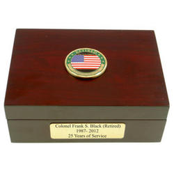 Retired Military Keepsake Box
