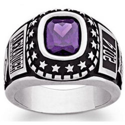 Men's Celebrium Traditional Graduation Birthstone Class Ring