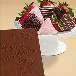 Mother's Day Dipped Strawberries and Chocolate Card