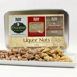 Beer & Whiskey Gourmet Nut Assortment Gift Tin