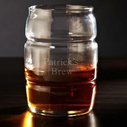 Personalized Rolling Barrel Glass