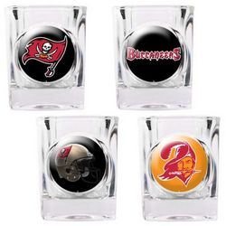 Tampa Bay Buccaneers Collector's Shot Glass Set