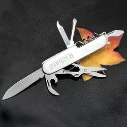 Engraved Silver Pocket Knife