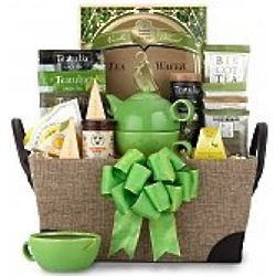 A Spot of Tea and Sweets Gift Basket