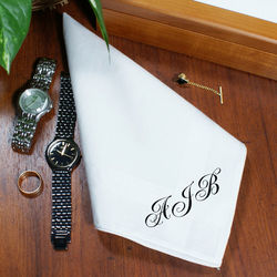 Any Initials Personalized Men's Handkerchief