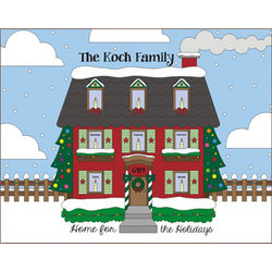 Home for the Holidays 8x10 Personalized Canvas Wall Print