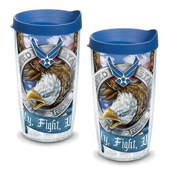 2 Air Force Eagle Tumblers with Lids