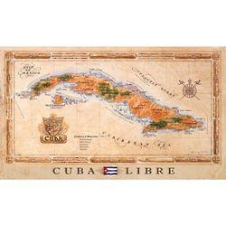 Cuba Libre Antique Style Map