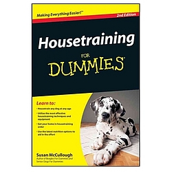 Housetraining For Dummies 2nd Edition Book