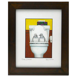 Stool Pigeon Framed Bathroom Art