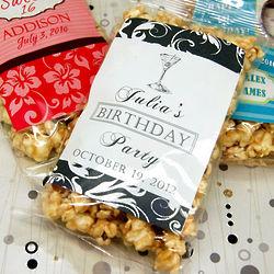 Personalized Birthday Caramel Corn