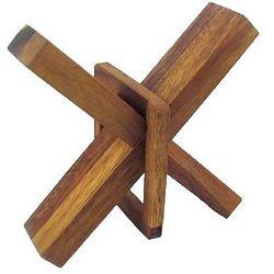 Crazy X Brain Teaser Wooden Puzzle