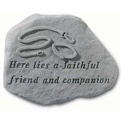 Here Lies a Faithful Friend Dog Memorial Stone