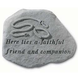 Here Lies a Faithful Friend Dog Memorial Stone