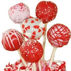 One Dozen Valentine's Day Chocolate Cake Pops