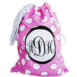 Personalized Polka Dots Laundry Bag