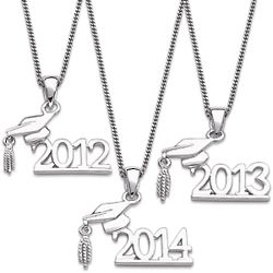 Sterling Silver Graduation Year Necklace