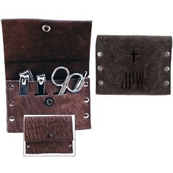 Leather Grooming Kit with Cross