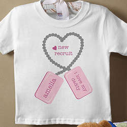 Personalized New Recruit Baby T-Shirt