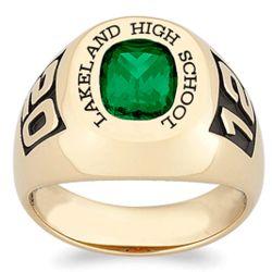 Personalized Yellow Celebrium Men's Birthstone Class Ring