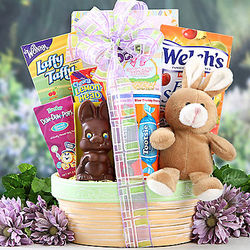 Chocolate Easter Bunny and Sweets Gift Basket