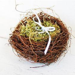 Moss Filled Nest Ring Pillow