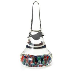Variegated Blown Glass Ring Stand