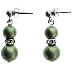 Soft Green Pearl Earrings