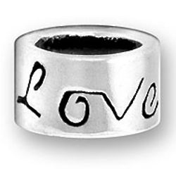 Sterling Silver Love Script Bead