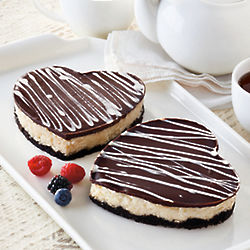 Special Occasion Heart Cheesecakes