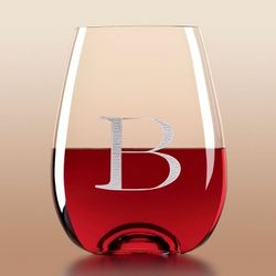 Tuscany Classics Engravable Stemless Wine Glasses