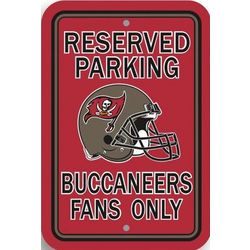 Tampa Bay Buccaneers Reserved Parking Sign