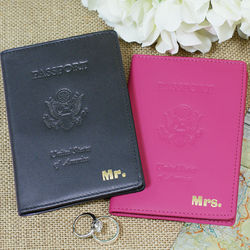 Mr. and Mrs. Leather Passport Holders