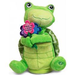 Wishing You a Speedy Recovery Animated Stuffed Turtle