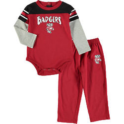 Bucky Badger Halfback Newborn or Infant Set