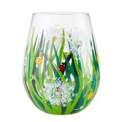 Dandelion Stemless Wine Glass
