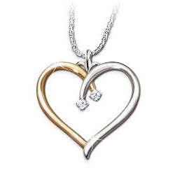 My Darling Daughter Heart Shaped Diamond Pendant
